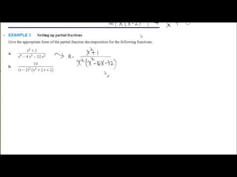 Partial Fraction Decomposition, Examples