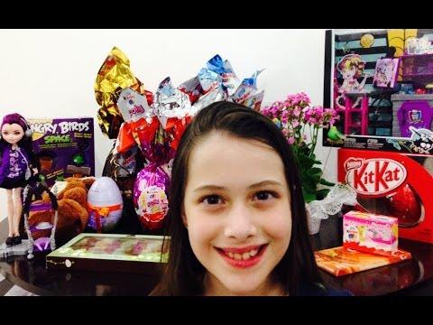Presentes que ganhei na Páscoa/2014 por Julia