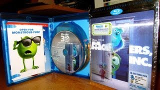 Monsters Inc Ultimate Edition 3D Blu Ray Review & Unboxing