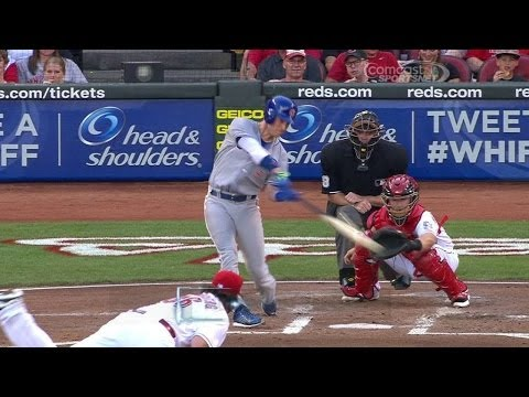 CHC@CIN: Coghlan launches a two-run home run to right