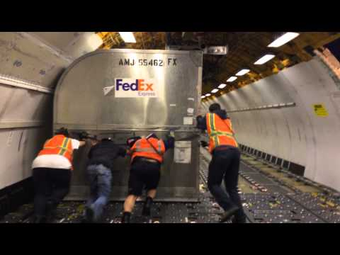 FedEx Cargo Airplane loading