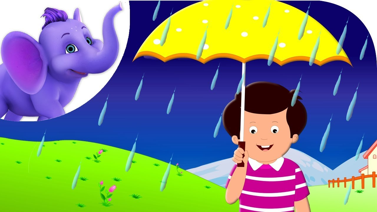 Rain on the Green Grass - Nursery Rhyme with Karaoke