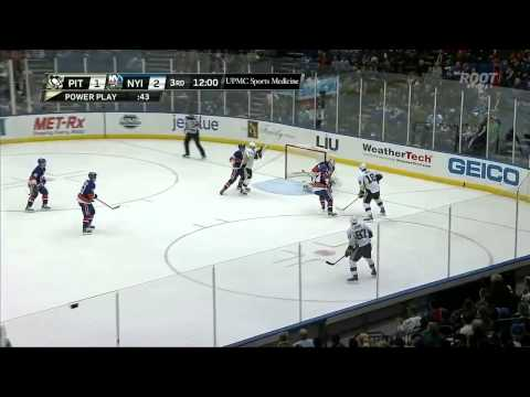 Sidney Crosby Goal :  Pittsburgh Penguins v NY Islanders :  December 3 2013