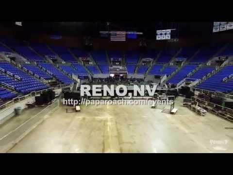 Papa Roach drone footage from inside Lawlor Events Center in Reno Nevada