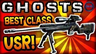 "COD Ghosts: ""USR"" BEST CLASS SETUP! (Sniper) Call Of"