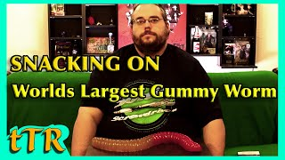 Worlds Largest Gummy Worm Challenge