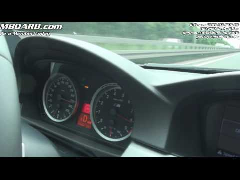 G-Power BMW M3 SKII CS 100-200 km/h in 6,1 s and 285 km/h run GPS-verified on Vbox