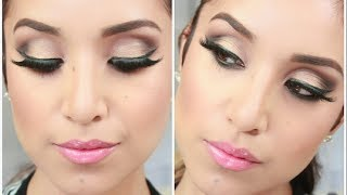 Glam Smokey Brown Eyes- Full Face Makeup Tutorial
