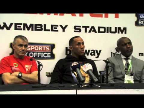 James DeGale Post Fight Press Conference - Froch v Groves 2