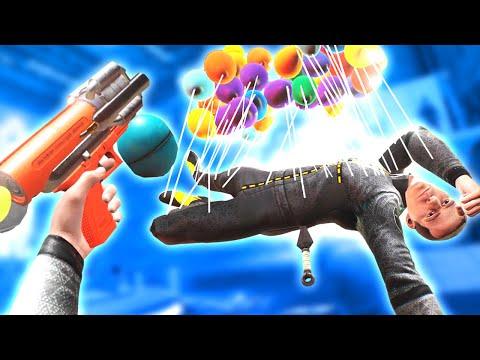 The BALLOON GUN is WAY TOO FUN in Boneworks VR