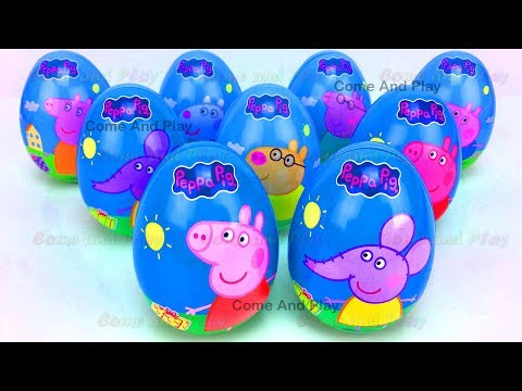 Peppa Pig and Friends Surprise Eggs Disney Princess Superhero TMNT Toy Story Learn Colors Play Doh