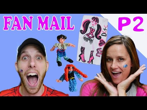 FAN MAIL Part 2 Monster High Drawing Rainbow Loom Frozen Princess Anna by Disney Cars Toy Club