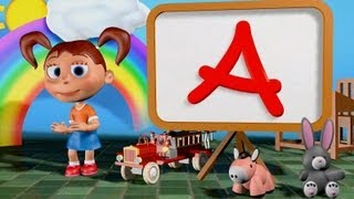 Muffin Songs - ABC Song 3D | nursery rhymes & children songs with lyrics
