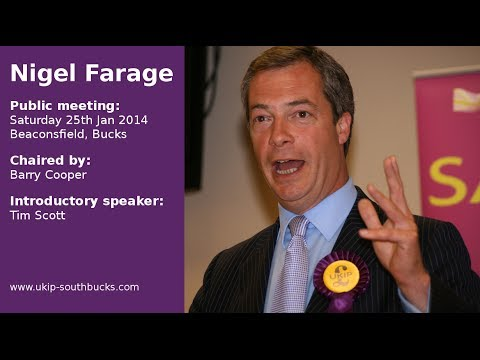 Nigel Farage 25th Jan 2014
