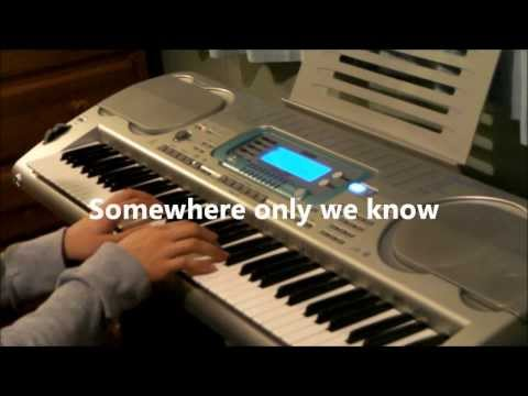 Lily Allen - Somewhere Only We Know (John Lewis Christmas Advert 2013) Piano Instrumental Lyrics