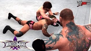 WWE Wrestlemania 30 Triple Threat WWE World Heavyweight