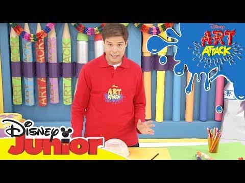 Art Attack Bastelclip #16 - Partypötte | Disney Junior