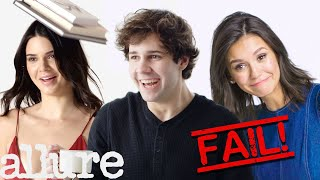 David Dobrik, Kendall Jenner and More Celebs Try 9 Things: Bloopers | Allure