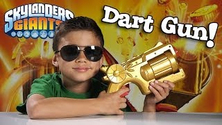 Skylanders TRIGGER HAPPY DART BLASTER - Toy Destruction!