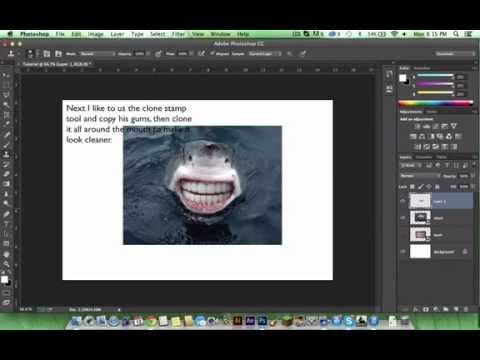 How to Photoshop a shark with human teeth