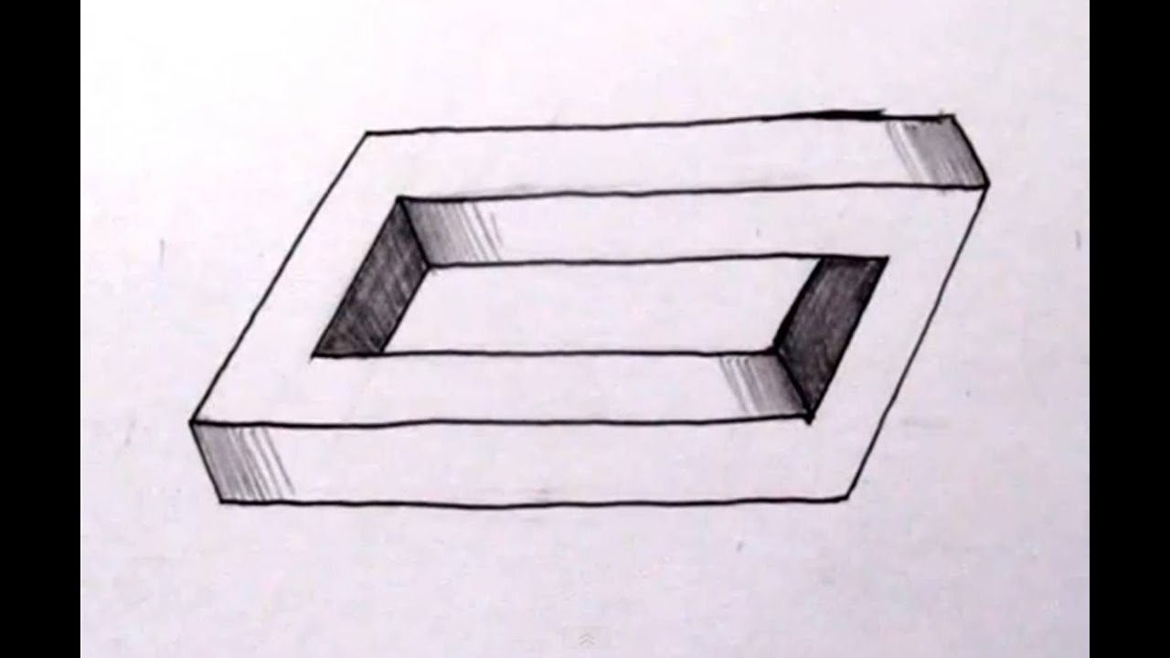 how to draw the impossible penrose rectangle cool optical illusion youtube. Black Bedroom Furniture Sets. Home Design Ideas