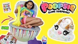 Giant Poopsie Slime Surprise Toilet! POOEY PUITTON DIY Slime