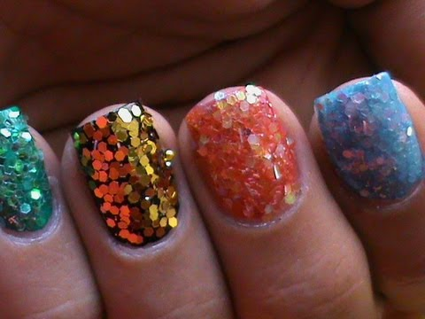 Sequins Nail Art Colorful How To Sequin Short Long Nails Designs