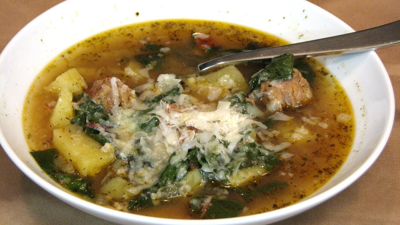 Slow Cooker Sausage, Potato and Swiss Chard Soup -- Lynn's Recipes ...