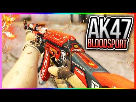 CSGO AK47 BLOODSPORT GAMEPLAY!! NEW SPECTRUM CASE SKIN GAMEPLAY AK-47 BLOOD SPORT CS GO KNIVES