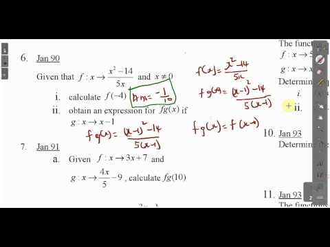 CXC CSEC Maths- Functions Lesson 1