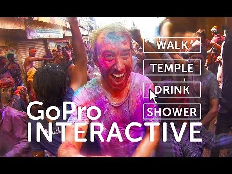 INTERACTIVE HOLI Festival Of Color 2014 - GOPRO Tour in India