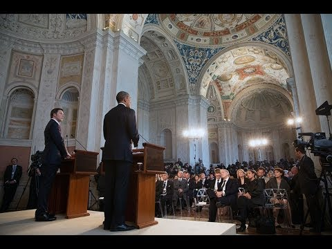 President Obama Holds a Press Conference with Prime Minister Renzi