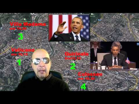 Obama the Pope of Rome and Colosseum Francesco Renzi Quirinale 28 03 2014