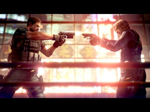 Resident Evil 6 - Chris Vs. Leon!
