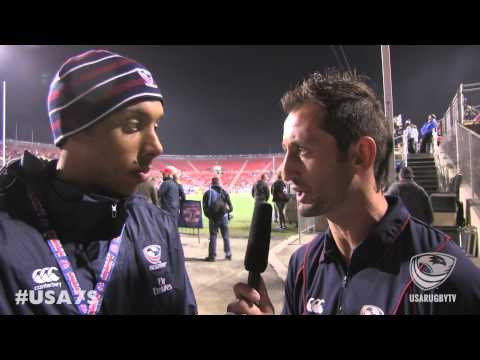 Nick Edwards post-game vs. Argentina - 2014 USA Sevens - Las Vegas