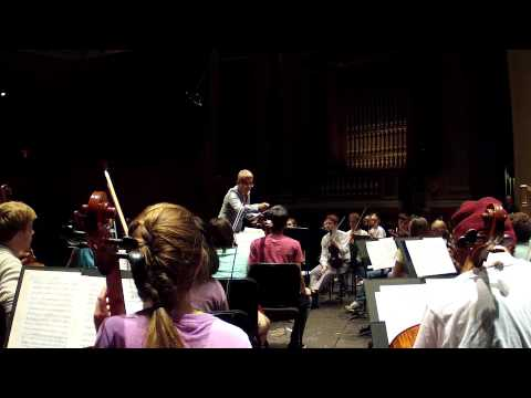 Rehearsal - Zenaida Romeu with Winston-Salem Youth Orchestra