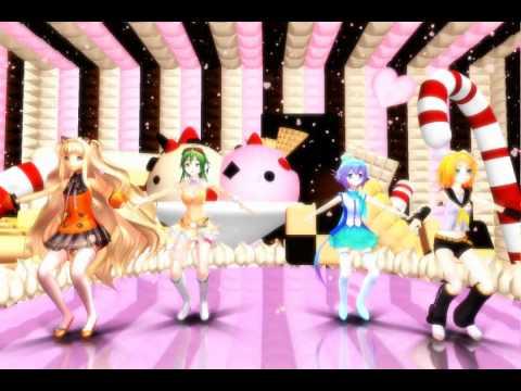 【MMD】 CANDY CANDY 【SeeU*GUMI*Aoki*Rin】