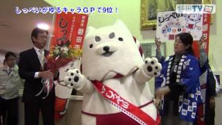 しっぺいが、ゆるキャラGP9位の成績で磐田市に帰ってきました