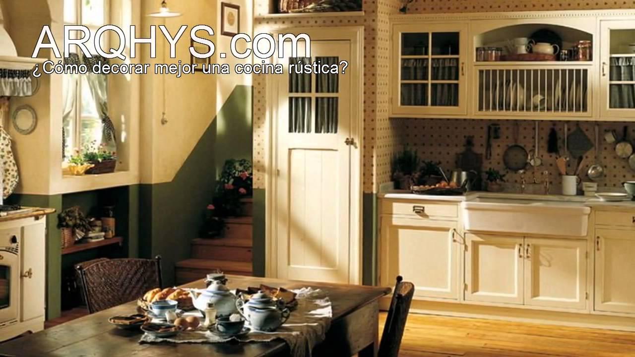 C mo decorar una cocina r stica aprende ahora mismo - Como decorar una cocina rustica ...