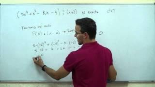 Teorema del resto. 4ª ESO