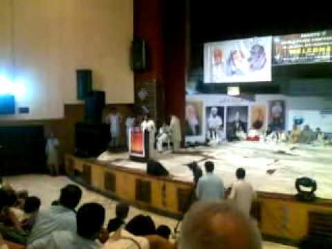 Naseem Gul Naseem Mandokhail addressing at World Pashto Seminar held in Peshawar.