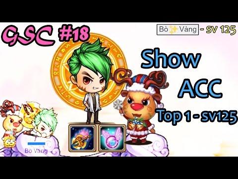 [Gunny mobi] GSC#18 - Show acc top 1 sv 125 Gà Toro - Bò✨Vàng