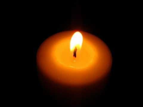 Beautiful Burning candle - YouTube