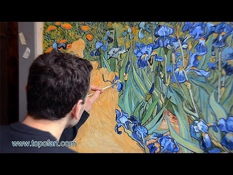 Art reproduction vincent van gogh irises hand painted for Van gogh paintings locations
