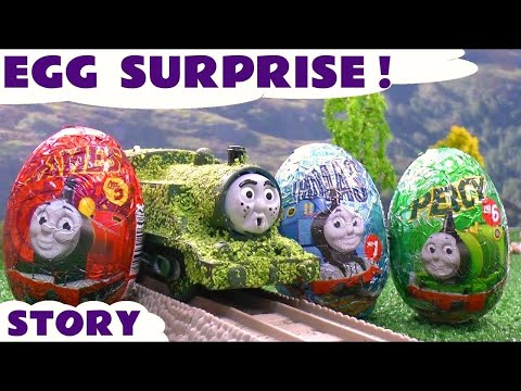 Surprise Eggs Tom Moss Thomas And Friends Funny Thomas Tank Episode Kids Toy Story