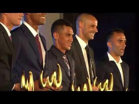 Celebração das conquistas na temporada, com premiação para as mais importantes figuras do beach soccer