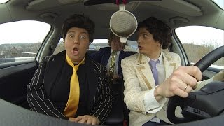 Russian Comedians in Cars Lip-syncing to Pop Songs