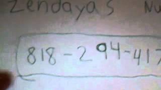 Zendayas Cell Phone Number