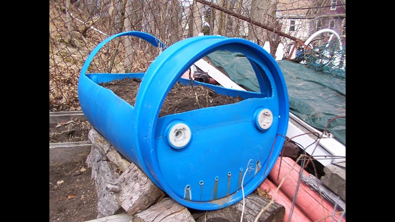 Blue Barrel Planter Diy Youtube