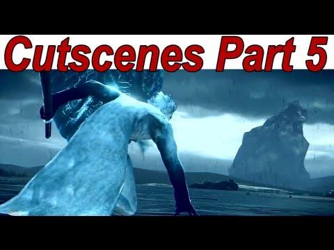 Vergil's Downfall Cutscenes Walkthrough Story Part 5/6【HD】 (Hollow Vergil Vs Vergil)